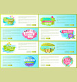 set of spring sale advert tags labels daisy flower vector image
