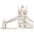 sketch doodle london bridge landmark travel vector image