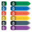 skyscraper icon sign Set of colorful bright long vector image vector image