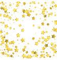 star confetti gold random confetti background vector image
