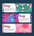 templates banners set floral mandala pattern and vector image vector image