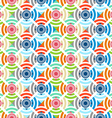 The pattern of colored circles squares vector image vector image