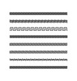 traditional simple meander black and white border vector image vector image