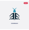 two color cockroach icon from animals concept vector image