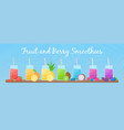 vegeterian smoothie shake cocktail collection vector image vector image