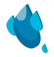 water drop icon symbol purity vector image