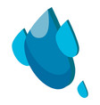 water drop icon water symbol purity vector image