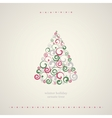 Winter holidays decoration tree vector image