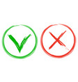 yes no brush draw icon vector image