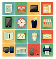 flat icons Office 01 vector image