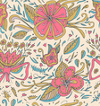 Abstract elegance seamless floral pattern on a vector image