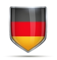 Shield with flag Germany vector image