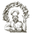 cooking logo design template chef cook or vector image