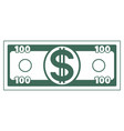 abstract dollar currency vector image