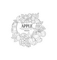 apple set vintage sketch vector image vector image