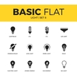 Basic set of light icons vector image