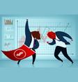 bearish and bullish market performance vector image