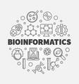 bioinformatics round in thin vector image vector image