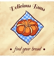 Bread On A Napkin 12 vector image vector image