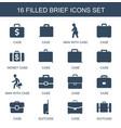 brief icons vector image vector image