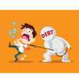 business man and debt vector image