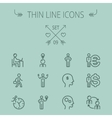 Business thin line icon set vector image vector image