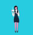 businesswoman holding cup coffee break concept vector image vector image