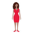 businesswoman red dress vector image