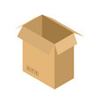 cardboard box open isolated containers for moving vector image