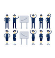 character design of business peeple isolated on vector image