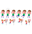 children movement sequence vector image vector image