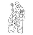 christmas nativity scene joseph with cane and vector image vector image