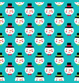 christmas seamless pattern with cute snowmen vector image