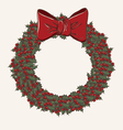 Christmas wreath made from lot of mistletoe vector image vector image