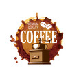 coffee logo on white vector image