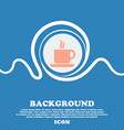 coffee sign icon Blue and white abstract vector image
