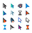 cursor cursorial pointer icons of mouse vector image