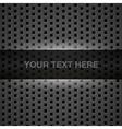 Dark gray metal background vector image
