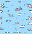 doodle planes background vector image