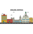 england sheffield city skyline architecture vector image vector image