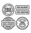 Express delivery and free worldwide shipping vector image vector image