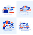 flat designed conceptual icons vector image