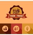 flat farm fresh design elements vector image vector image