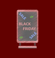 flat shading style icon signboard black friday vector image vector image