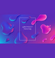 fluid background abstract gradient shape vector image