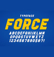 force heavy display font design swatches color vector image