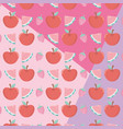 fresh and tropical fruits pattern vector image