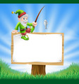 garden gnome or elf sign vector image