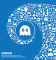 Ghost icon sign Nice set of beautiful icons vector image vector image