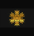 gold glitter snowflake christmas background vector image vector image